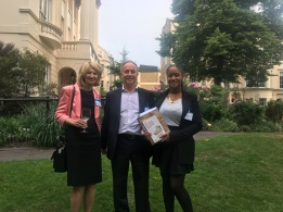 Proffesor Julia Buckingham (VC and President), Mike Herman and Paris Reveira